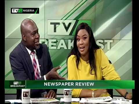 TVC Breakfast 5th November 2018   Newspaper Review with Dotun Ojon