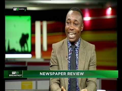 TVC Breakfast 3rd December 2018   Newspaper Review with Dotun Ojon