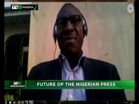 TVC Breakfast 8th January 2019 | Future of the Nigerian Press