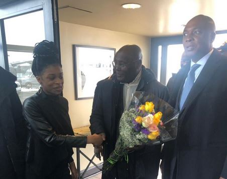 PDP presidential candidate, Atiku Abubakar, arrives Washington, D.C.