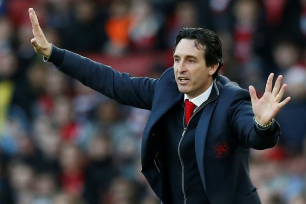 Arsenal manager, Emery fined for kicking water bottle