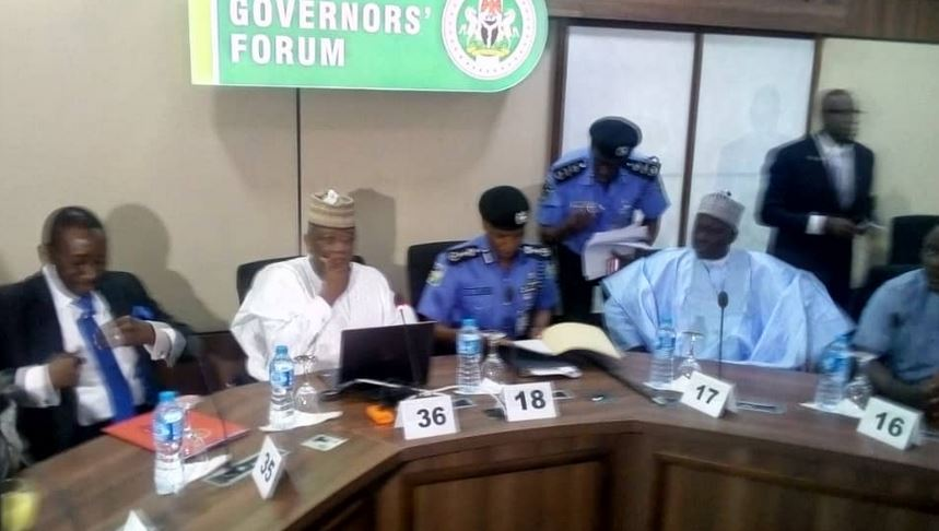 Updated: NSA, acting IGP, meet with Governors' Forum