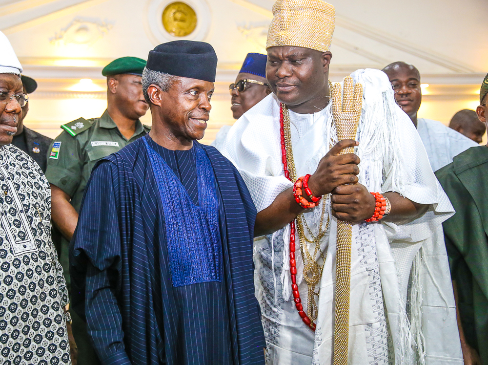Osinbajo Meets Ooni Of Ife