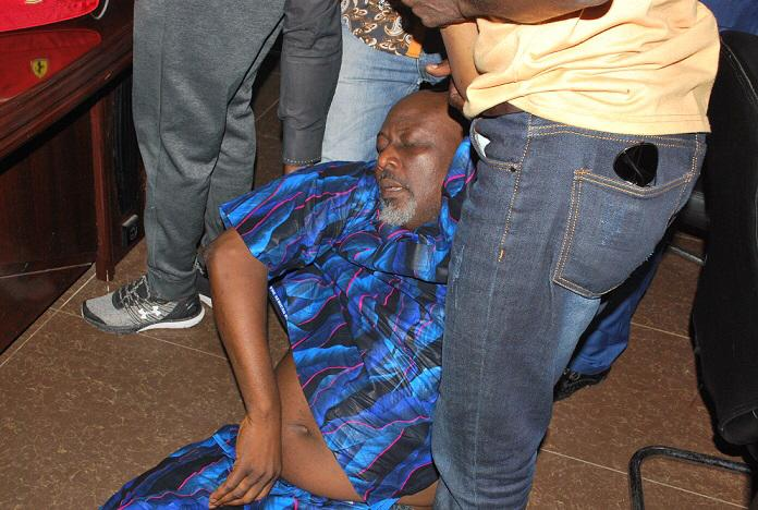 Updated: Dino Melaye surrenders, slumps at SARS HQ