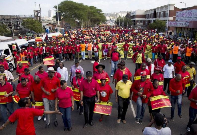 South Africa's largest labour union plans nationwide strike over mass layoffs