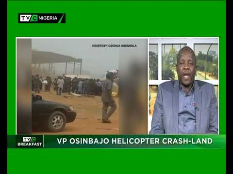 TVC Breakfast show 4th Feb., 2019   VP Osinbajo Helicopter crash-lands