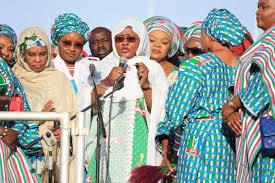 Aisha begins door-to-door campaign for Buhari's re-election