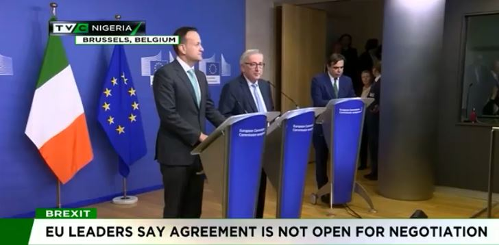 Brexit deal: EU leaders say agreement is not open for negotiation