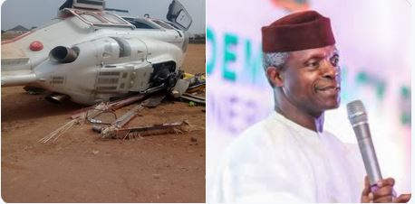 Chopper incident: Vice President Osinbajo thanks Nigerians for concern