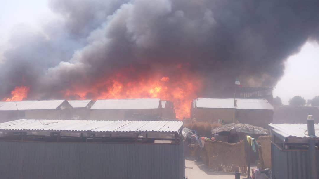 Fire razes IDP Camp in Monguno