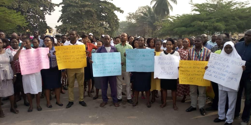 Ondo JOHESU members organise rally