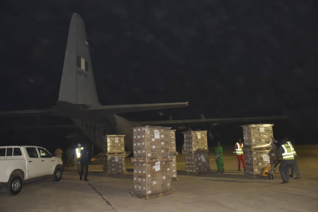 NAF commences airlift of electoral materials for INEC