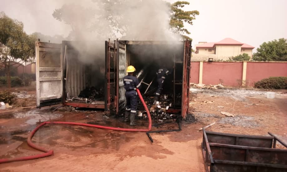 Fire guts  INEC sensitive materials in Awka, Anambra
