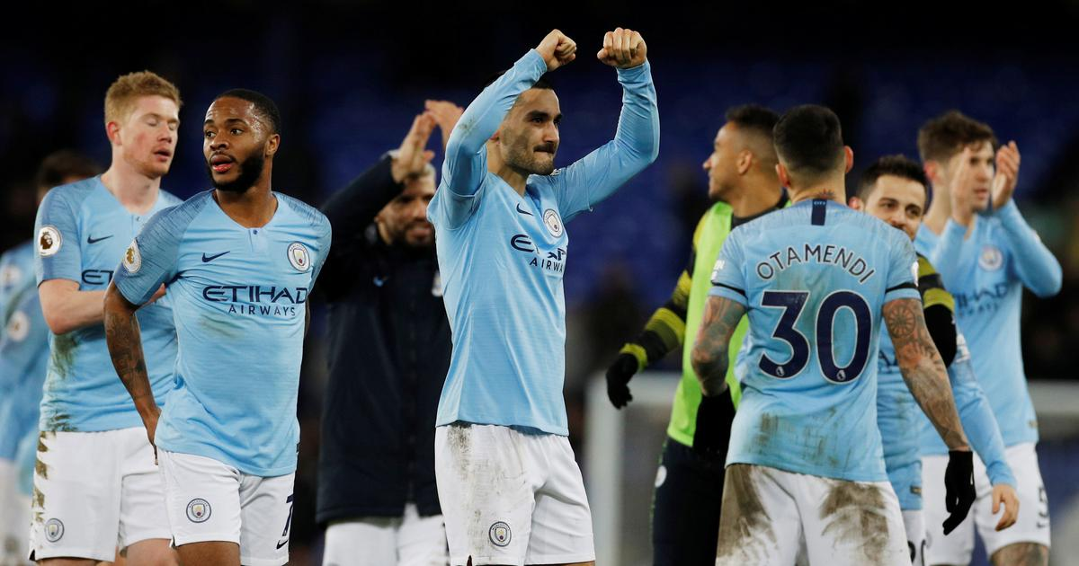 Premier league: Man City back on top after 2-0 victory over Everton