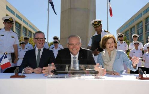 Australia signs $50 billion submarine contract with France
