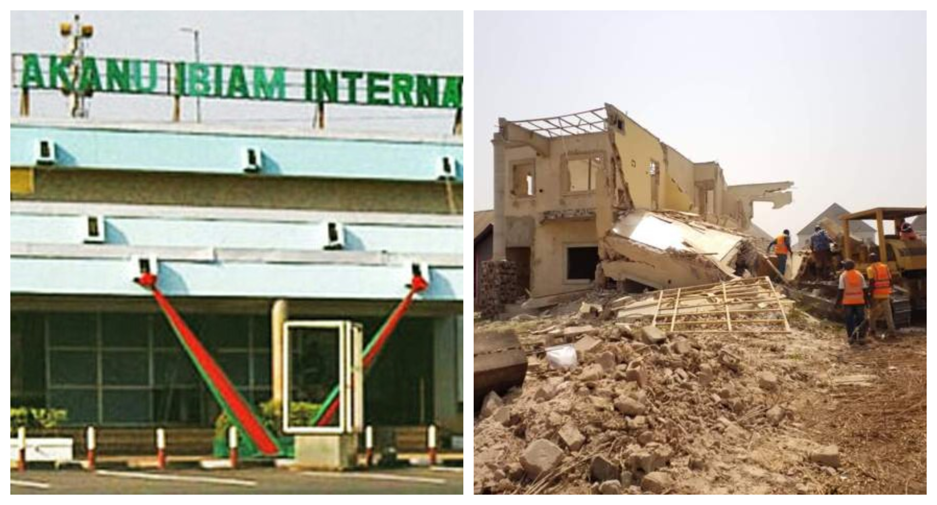 Enugu govt begins demolition of structures encroaching on Akanu Ibiam Int'l Airport - TVC News