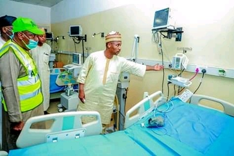 COVID-19: Ganduje inspects Kano isolation centre — Daily Times Nigeria