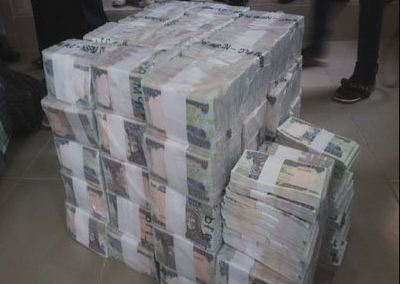 Huge stack of 'crispy' banknotes seized in Nigerian airport | CGTN ...