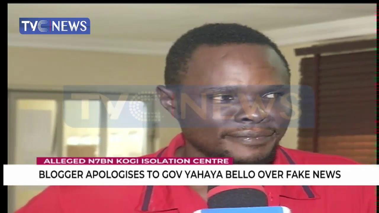 Blogger apologises to governor Yahaya Bello over fake news - YouTube