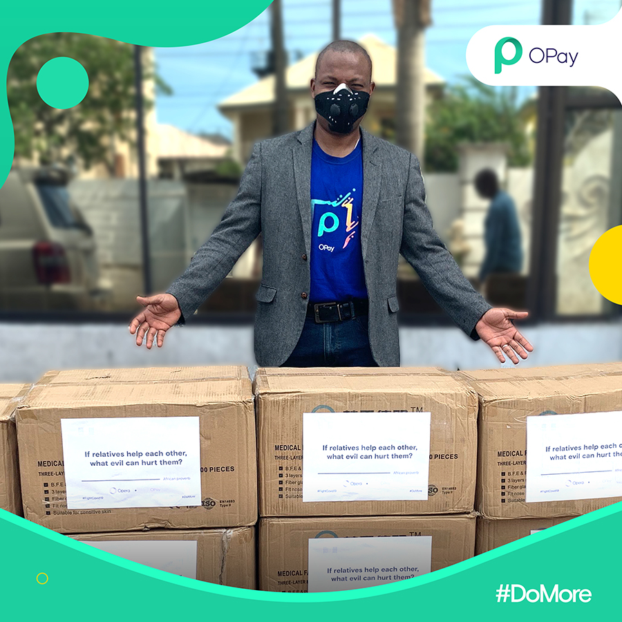 Opay supports Lagos State #MaskupLagos initiative with donation of ...